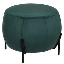 Zielona pufa welurowa Calabaza Velvet