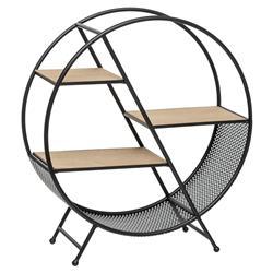 Okrągła metalowa półka stojąca Timeo
