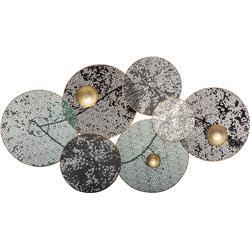 Metalowa ozdoba ścienna lilie 90x50 cm