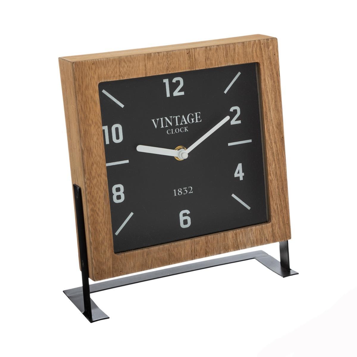 Zegar stołowy Micah na metalowym stojaku