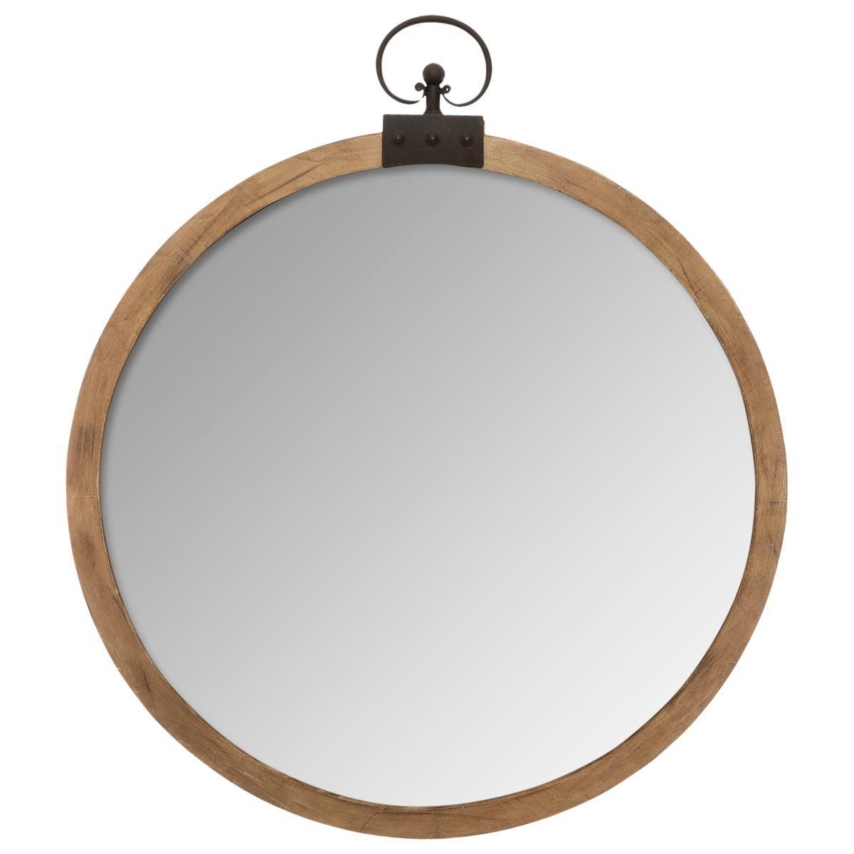 Drewniane lustro ścienne Sarah 74 cm