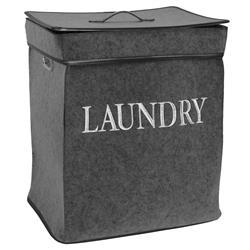 Kosz na pranie ciemno szary Laundry