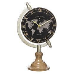 Zegar stołowy w kształcie globusa