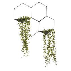 Roślina sztuczna zwisająca czarny stelaż