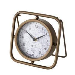 Metalowy zegar stołowy Bruni
