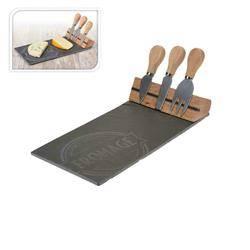 Deska łupkowa do serów z nożami
