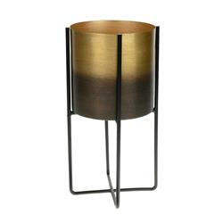 Donica czarno-złota na stojaku 27 cm