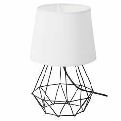 Lampka nocna stołowa Diament czerń biel