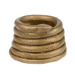 Donica ceramiczna złoty wąż 10,5x6,5 cm