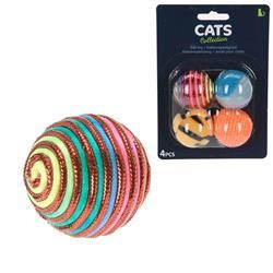 Zestaw piłek dla kota 4 szt