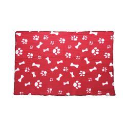 Koc dla psa czerwony 77x55 cm