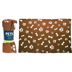 Koc dla psa brązowy 77x55 cm
