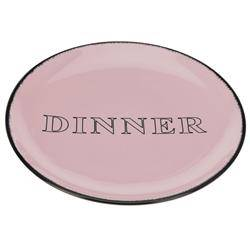 Talerz obiadowy Dinner beżowo różowy