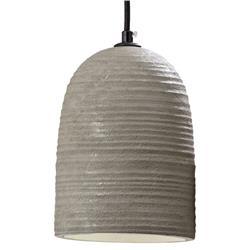 Lampa wisząca wykonana z cementu, szara