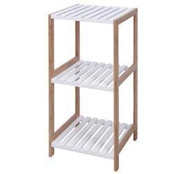 Drewniany regał biały 3 półki