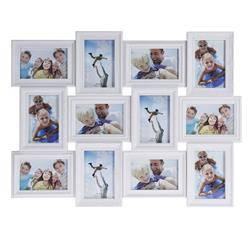 Ramka ścienna na 12 zdjęć 10x15 - biała