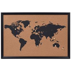 Tablica korkowa mapa świata wzór 1