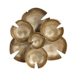 Ozdoba ścienna złota liście lotosu
