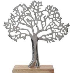 Dekoracyjna ozdoba drzewko srebrne 33 cm