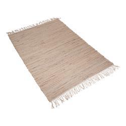 Dywan z frędzlami Boho beżowy 180x120 cm