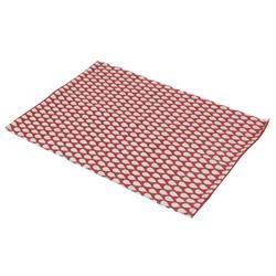 Dywan 60x90 cm wzór kropelkowy czerwony