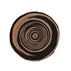 Okrągły dywan jutowy 90 cm wzór 1