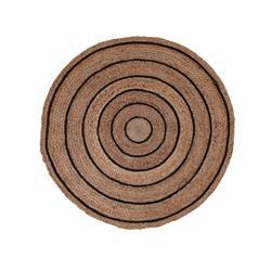 Okrągły dywan jutowy 90 cm wzór 2