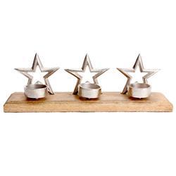 Świecznik na trzy tealighty gwiazdki