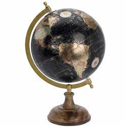 Dekoracyjny globus Retro 8 cali czarny