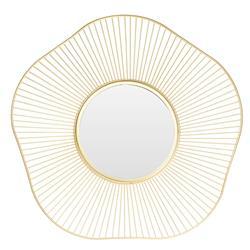 Lustro ścienne geometryczne złote 43 cm