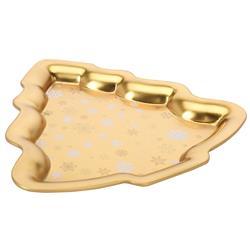 Patera złota w kształcie choinki