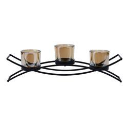 Świecznik metalowy na 3 tealighty