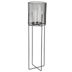 Świecznik metalowy czarny 73 cm