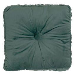 Poduszka Velvet aksamitna ciemnozielona