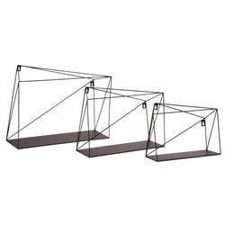 Komplet metalowych półek ściennych 3 szt
