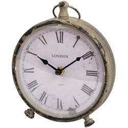 Beżowy zegar stołowy w stylu vintage