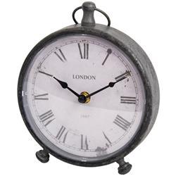 Grafitowy zegar stołowy w stylu vintage