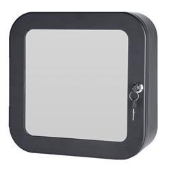Apteczka ścienna czarna z lustrem