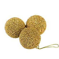 Bombki choinkowe złote 3 szt wzór 3