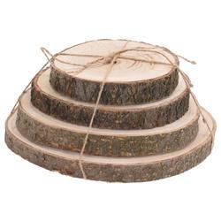 Komplet podstawek pieńki drewniane 4szt