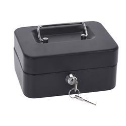 Sejf metalowy czarny z kluczykiem