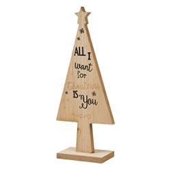 Choinka drewniana beż 25 cm wzór 4