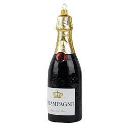 Bombka choinkowa Butelka szampana czarna