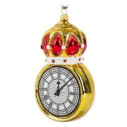 Bombka choinkowa  Złoty zegar