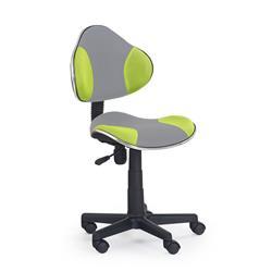 Fotel młodzieżowy Flash szaro-zielony