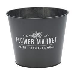 Osłonka na kwiaty Flower szara 17x14 cm