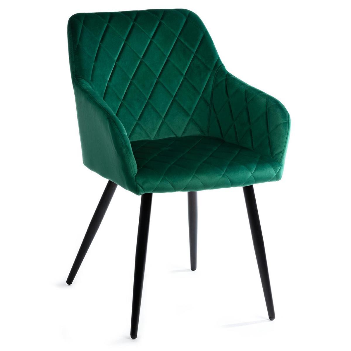 Krzesło tapicerowa Rico Black Dark Green