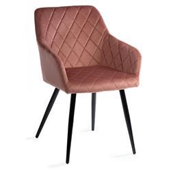 Krzesło tapicerowane Rico Black Salmon