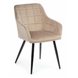 Krzesło Luna Black Dark Beige