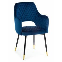 Krzesło Senko Black Dark Blue